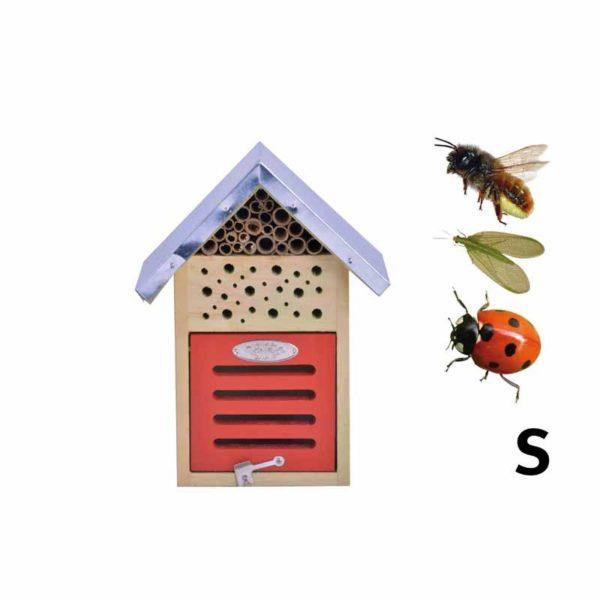 hôtel a insectes pour abeilles, coccinelles, chrysopes.