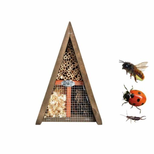 hôtel à insectes triangle jardin