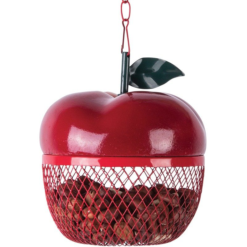 mangeoire-oiseau-forme-pomme-cacahuètes